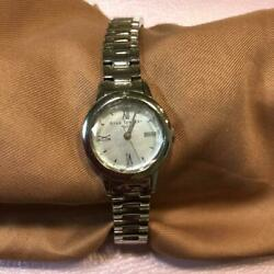 Star Jewelry Ladies Analog Watch Silver Used From Japan Need To Replace Battery