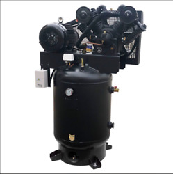 10 Hp 3 Phase Reciprocating Air Compressor W/60 Gal Tank 180psi 28cfm Industrial