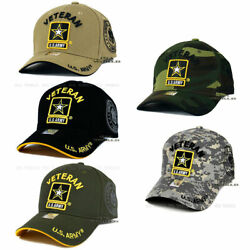 U.s. Army Veteran Hat Cap Army Strong Military Officially Licensed Baseball Cap