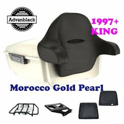 Morocco Gold Pearl King Tour Pack Trunk Black Hinge And Latch Fit Touring