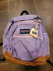 NEW BACKPACK JANSPORT COOL STUDENT PRISM PINK HONEY DOBBY $50.00