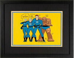 Original 1st Hand Painted Fantastic Four Model Cel For 1967 Animated Tv Series