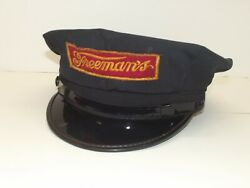 Vintage Freemanand039s Dairy Milkmanand039s Cap Hat With Embroidered Logo Allentown Pa