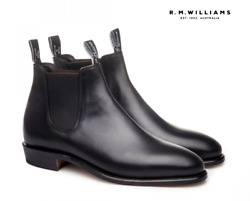 R.m. Williams Yearling Adelaide Regular Womens Rm Black Boots - Size 8 D New