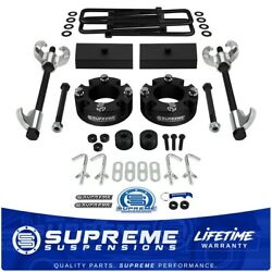 For 07-20 Tundra 3 Front + 1 Rear Lift Level Set Coil + Compressor + Diff Drop