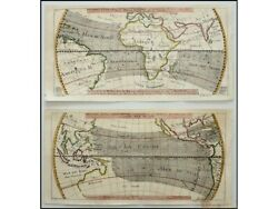 Crosswind Between The Continents Old Sea Charts By Bellin 1753 | World Maps Wind