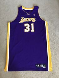Chris Mihm Lakers Jersey Team Issued Size 56 2008-09 Purple