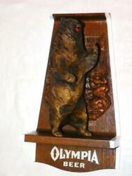 Olympia Beer Sign Bear Grizzly Vintage Hunting Brown Man Cave 70s Bar Wildlife