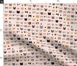Cat Kitten Kitty Cats Persian Black Cat Siamese Spoonflower Fabric by the Yard