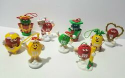 Mars Mandm's Candy M And M Christmas Ornament And Holiday Lot Of 9 Collectible Vintage