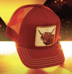 Goorin Animal The Farm Trucker Snapback Hat Red Ox Limited Edition Exclusive