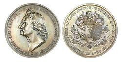 O454, France, 1883 Silver Medal By Gatteaux, First Balloon Flight, Montgolfier R