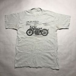 Vtg Excelsior Super X Motorcycle T Shirt Medium Made In Usa Rare Indian Harley