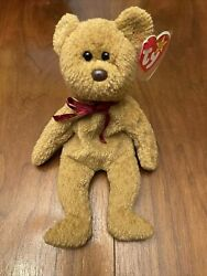 Rare Errors Retired Ty Beanie Baby And039curlyand039 The Bear Many Errors Mint Condition