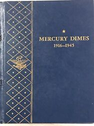 Complete Silver Mercury Dime Set 77 Coins Including 1916 D, Missing 1942/41