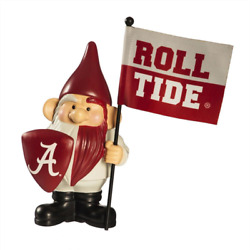 10 In. X 6 In. University Of Alabama Ncaa Garden Gnome With Team Flag
