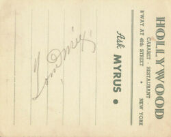 Tom Mix - Printed Card Signed In Ink