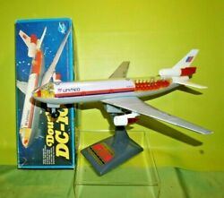Apls Mcdonnell Douglas Dc-10 Battery Operated Plane Box United Airlines Tested