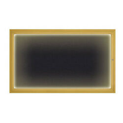 United Visual Products Uv417iled1-gold-rubber Corkboard,60x36,rubber/gold