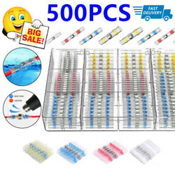 250/20 Solder Seal Sleeve Heat Shrink Electric Butt Wire Connectors Terminal Kit