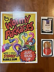 1973 Wacky Packages 4th Series Complete Set Of Stickers Tan Back W/ Puzzle