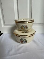 Cronin China Oven Bowls With Lids Colonial Couple