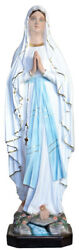 Our Lady Of Lourdes Fiberglass Statue Cm. 130 With Glass Eyes