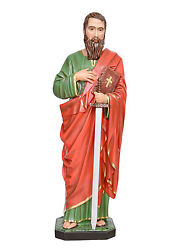 Saint Paul Resin Statue Cm. 100 With Glass Eyes