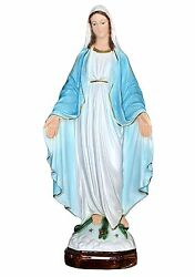 Our Lady Of Grace Resin Statue Cm. 47 - Made In Italy
