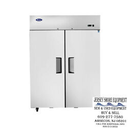 Atosa Mbf8005gr Upright Stainless Two 2-door Refrigerator Top Mount-warranty