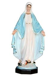 Statue Madonna Immaculate Cm 130 In Fibreglass With Eyes Painted Outdoor
