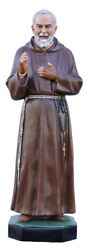 Statue Saint Padre Pio Cm 130 In Fibreglass With Eyes Of Glass Made In Italy
