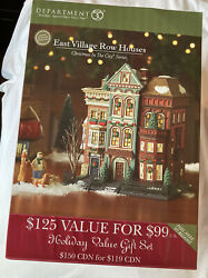 Department 56. Christmas In The City. East Village Row Houses. Brand New. 59266.