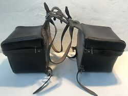 1960andrsquos Vintage Bmw Babin Sellier Motorcycle Leather Saddle Bags Paris France