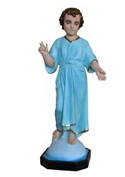 Statue Ss. Name Of Jesus Cm 104 In Fibreglass With Eyes Of Glass