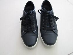 Dolce And Gabbana Sport Mens Navy Blue Leather Cs0900 Sneakers Size 7