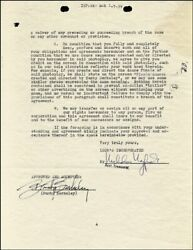 Busby Berkeley - Contract Signed 12/28/1938