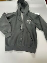 Mammoth Mountain California Gray Pullover Zip-up Hoodie Sz S Cotton Heritage