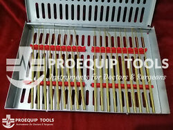 Rhoton Micro Dissector 38 Pcs Set Straight And Curved Stainless Steel Without Case