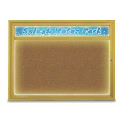 United Visual Products Uv451hiled1-gold-forbo Corkboard,48x36,synthetic