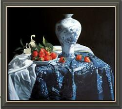 Hand Painted Original Oil Painting Art Still Life Cherry On Canvas 30x40