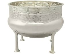 Antique Arts And Crafts Style Sterling Silver Jardiniere / Bowl