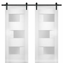 Vdomdoors Sete6933db-ws-5684 Modern Double 56x84 With Opaque Glass / Sete 6933