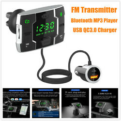 Wireless Bluetooth Fm Transmitter For Car Handsfree Mp3 Player Usb Qc3.0 Charger