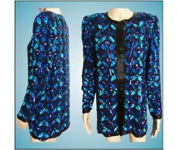 Vintage Sequin Jacket Seed Beads 1980s Gorgeous 1980s Sequin Jacket Laur