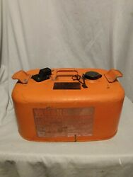 Vintage Yamaha Motor Co. 6.3 Gallon Red Metal Boat Outboard Gas Fuel Tank