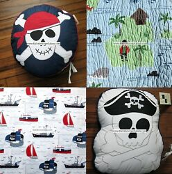 Pirate 7pc Full/queen Quilt Sheets Throw Pillows Treasure Chest Pirates Ahoy