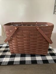 """Longaberger 2009 Rich Brown Magazine Basket """"new With Tags"""""""