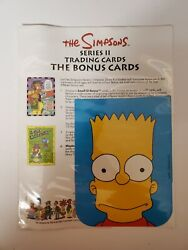 1993 The Simpsons Trading Card 2 Retail Promo Sell Sheet Sale Checklist Promo