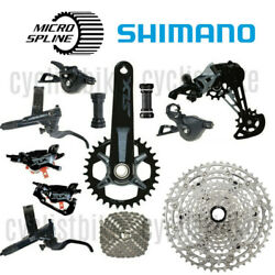 Shimano Slx M7100 12spd W/m6100 51t Cassette And M7120 Brakes Groupset New